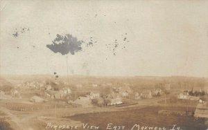 LP79 East Maxwell  Iowa Postcard RPPC Birdseye View
