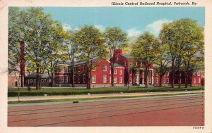 Illinois Central Railroad Hospital, Paducah, Kentucky, Early Postcard, Used