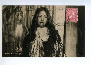 232887 NEW ZEALAND Maori woman Vintage photo RPPC