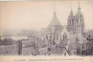 France Blois L'Eglise St Nicolas vue de la Terrasse Ste-Foix