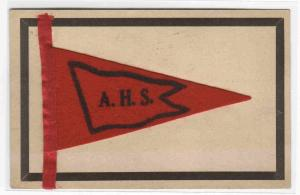 Alexandria High School Felt Pennant AHS Indiana 1909 postcard
