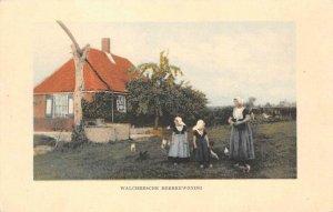 Walchersche Boerenwoning Dutch Farmhouse c1910s Vintage Postcard