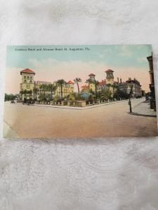 Antique Postcard entitled Cordova Hotel and Alcazar Hotel, St. Augustine, Fla.
