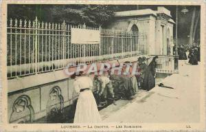 Old Postcard Lourdes Grotto The Taps
