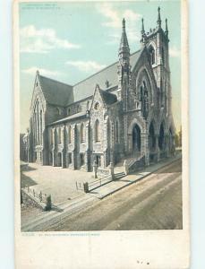 Divided Back CHURCH SCENE Worcester Massachusetts MA hs7829