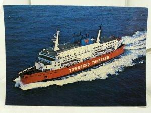 Vintage Postcard Townsed Thoresen Spirit of Free Enterprise Passenger Ferry Boat