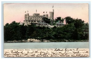 Postcard Casco Castle from the Sea, South Freeport ME Maine udb 1906 G33
