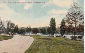 New York Rochester Main Drive and Lake In Seneca Park 1912