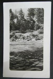 Guy Fishing Below Hells Gate Lewiston Idaho Real Photo Postcard Unposted