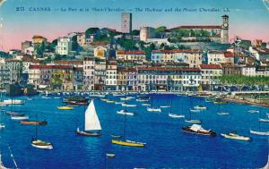 France Cannes The Harbour and the mount Chevalier 01.62