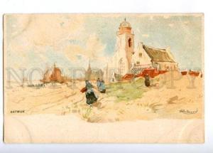 176651 Netherlands KATWIJK Church by CASSIERS Vintage PC