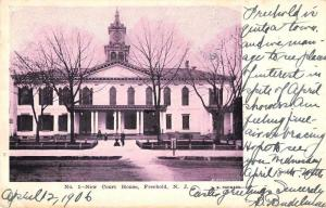 Freehold New Jersey Court House Exterior Vintage Postcard JB626134