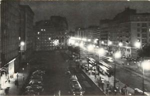 Romania Bucharest General Magheru Boulevard by night 1965
