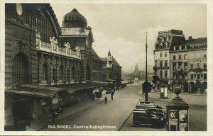 switzerland, BASEL, Centralbahnstrasse, Station, Hotel Continental (1930) RPPC