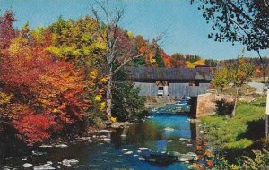 Covered Bridge Old Covered Bridge At Johnson Vermont