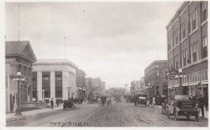 RP: Main Street (dirt) , WEYBURN , Saskatchewan , Canada , PU-1921