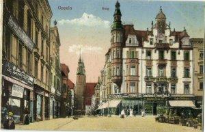 poland, OPPELN OPOLE, Ring, Geschäften, Schuhfabrik Conrad Tack (1910s) Postcard