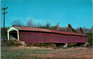 Postcard~Jeffries Ford Bridge~Rockville, Indiana~Covered Bridge~A16