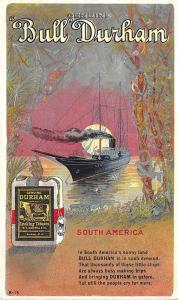 Bull Durham Tobacco Advertising Set South America B-15 Postcard