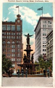 Ohio Cincinnati Fountain Square Looking West Kraemer Art