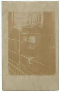 Organist At Keyboard, c 1910's RP PPC, Unposted, Named G.H. Stow To Reverse