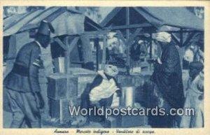 Mercato indigeno, Venditore di scarye Asmara Eqypt Unused