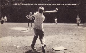 Co-ed Softball Game , 4-H Camp , SUNCOOK , New Hampshire , 30-50s