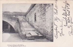 Florida Saint Augustine Old Coquina Stairway in Fort Marion 1906