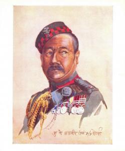 Military Art Postcard 2nd King Edwards own Gurkha Sirmoor Rifles  A C Lovett 42Q