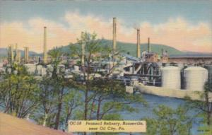 Pennsylvania Rouseville Pennzoil Refinery Curteich