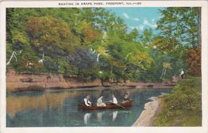 Illinois Freeport Boating In Krape Park