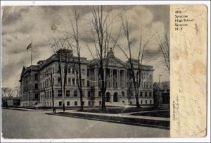 High School, Syracuse NY   (creases)