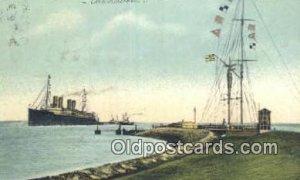 Nordseebad Cuxhaven 1909 light postal marking on front