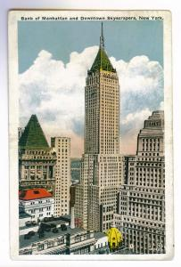 New York, NY to Pittsburgh, Pennsylvania 1933, Bank of Manhattan used Postcard
