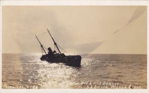 RP: Sinking Ship S.S. Edith , Alaska Coast, 00-10s Her last Sunrise, THWAITE