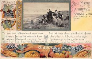 Thanksgiving Old Vintage Antique Postcard Post Card 1909