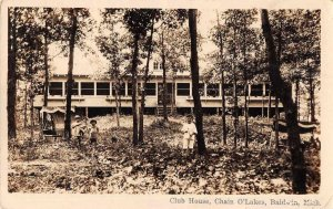 Baldwin Michigan Chain O'Lakes Club House Real Photo Postcard JJ649055