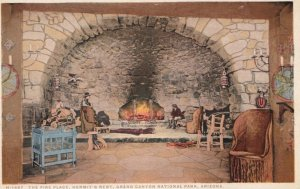 GRAND CANYON , Arizona , 00-10s; Fire Place , Hermit's Rest ; Fred Harvey H-1487