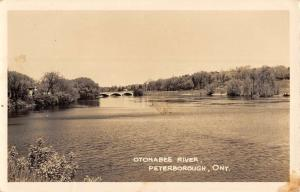 Peterborough Ontario Canada Otonabee River Real Photo Antique Postcard K93309