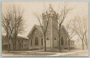 Litchfield Minnesota~Presbyterian Church~Parsonage~Neighborhood Homes~c1910 RPPC