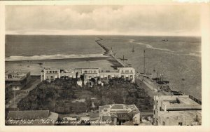 Egypt Port Said The Casino and Breakwater Vintage RPPC 07.32