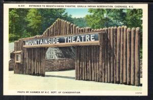 Entrance to Mountainside Theatre,Qualla Indian Reservation,Cherokee,NC