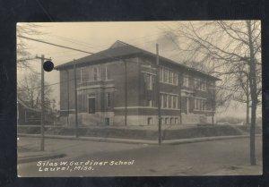 RPPC LAUREL MISSISSIPPI SILAS W GARDINER SCHOOL VINTAGE REAL PHOTO POSTCARD