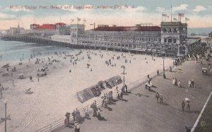 ATLANTIC CITY, New Jersey, PU-1919; Million Dollar Pier, Beach And Boardwalk