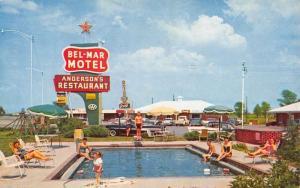 Beebe Arkansas Bel Mar Motel Pool View Vintage Postcard K90888