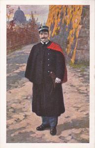 ITALY, 1900-1910's; Gendarme In Tenuta Invernale