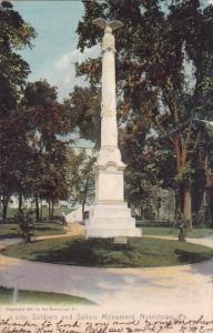 Soldiers And Sailors Monument Norristown Pennsylvania 1906