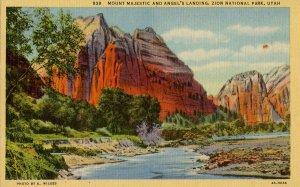 UT - Zion National Park. Mt Majestic & Angel's Landing
