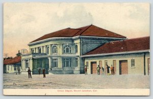 Grand Junction Colorado~Union Depot~Folks at Railroad Station~Side View~1907