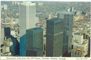 Canada, Downtown Core from the CN Tower, Toronto, Ontario, unused Postcard